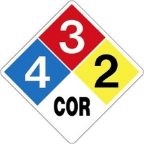 blank htm hazmat placards nfpa diamond p